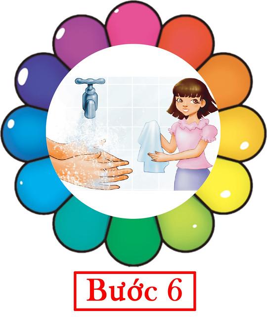 rửa tay cho trẻ mầm non